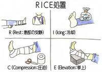 ケガの早期回復への近道!【RICE(ライス)処置】によるアイシング!!